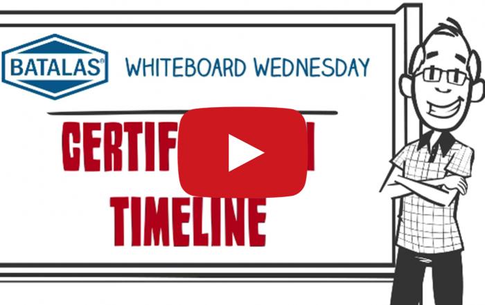 Certification timeline