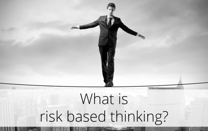 Title What is risk based thinking